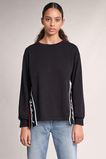 Salsa Jeans - Black Salsa branded sweatshirt with side strips