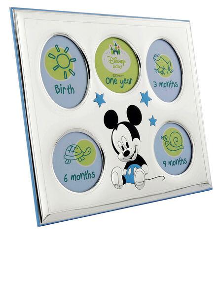 DISNEY - Disney Mickey My First Year Photo Frame Silver/Blue