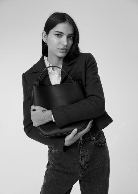 Mango - black Minimalist bag, Women