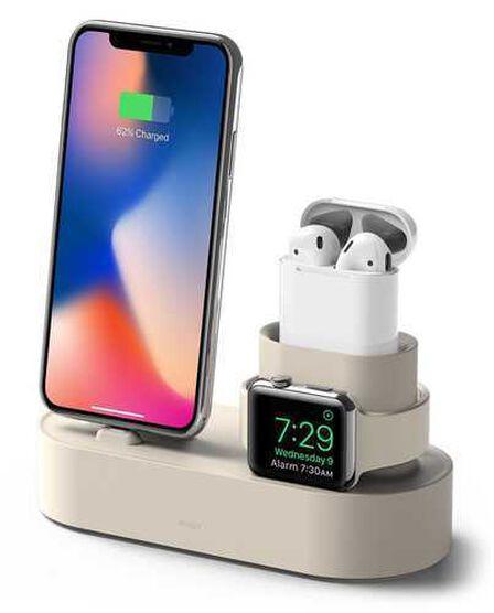 ELAGO DESIGN - Elago 3-in-1 Classic White Charging Hub for Apple Watch