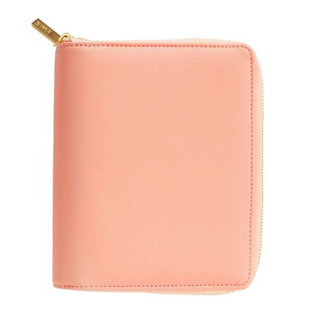 KIKKI.K - kikki.K Leather Personal Zip Planner Medium Luxury Coral