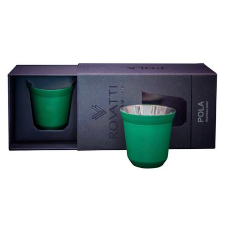 ROVATTI - Rovatti Pola Stainless Steel Cup Green 85ml