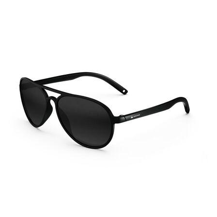 QUECHUA - Adults Hiking Sunglasses - MH120 - Polarising Category 3 - Black