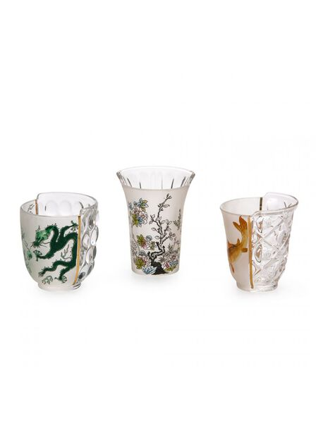Seletti - Hybrid Aglaura Set of 3 Glass