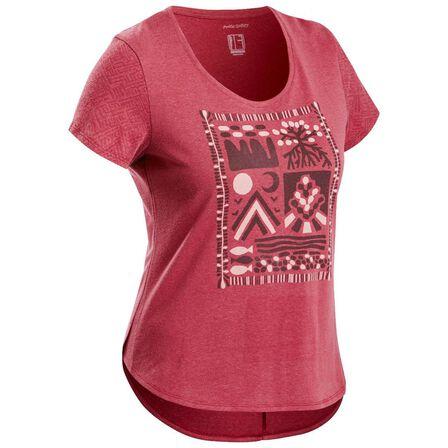 QUECHUA - XL Women's Country Walking T-Shirt - NH500 - Burgundy