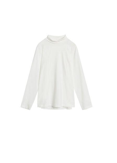 Mango - natural white Turtleneck organic cotton t-shirt
