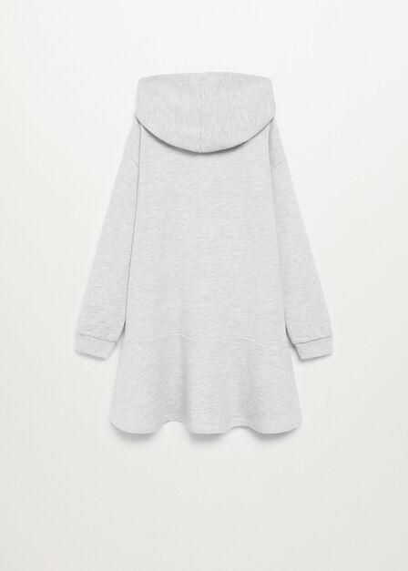 Mango - lt pastel grey Organic cotton sweatshirt dress