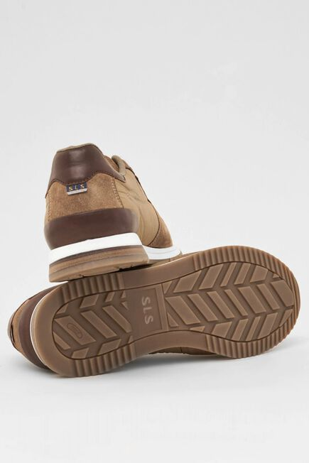 Salsa Jeans - Beige Leather trainers with suede inserts