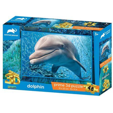 PRIME 3D - Prime 3D Animal Planet Dolphin 48 PCs 3D Jigsaw Puzzle