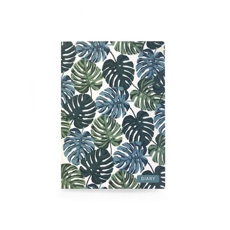 GO STATIONERY - Classic Diaries WTV Full Year Diary Tropical Leaf A5 2020