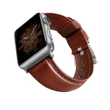 VIVA MADRID - Viva Madrid Montre Cordovan Brown Strap Silver Buckle for Apple Watch 42/44 mm