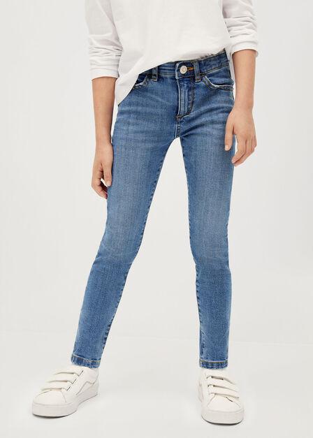 Mango - open blue Organic cotton skinny jeans