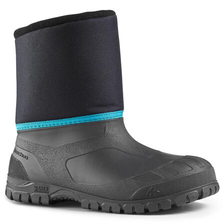 QUECHUA - Children's snow hiking boots sh100 warm - blue, EU 34-35