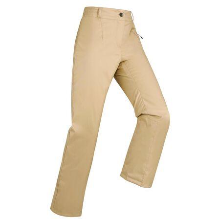 WEDZE - L/XL Women's Ski Trousers 100 - Beige - Sand