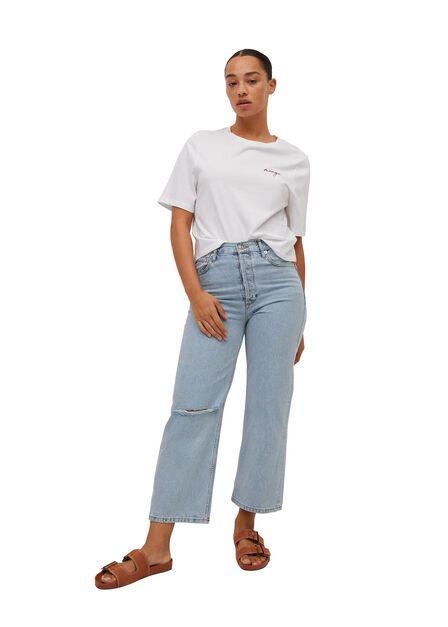 Mango - white 100% recycled cotton t-shirt, Women