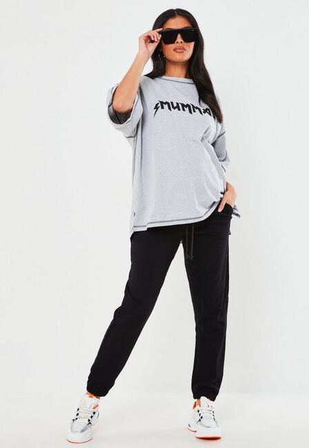 Missguided - Black 90s Maternity Joggers