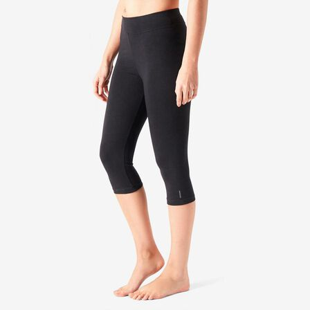 NYAMBA - W38 L31  Cotton Fitness Cropped Bottoms Fit+, Black