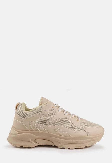 Missguided - Camel Sand Mesh Panel Chunky Trainers