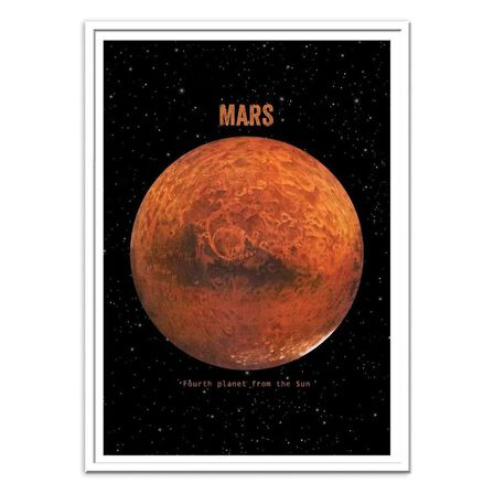 WALL EDITIONS - Mars Art Poster by Terry Fan [30 x 40 cm]