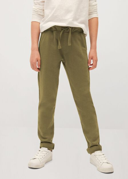 Mango - beige - khaki Cotton jogging trousers