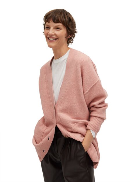 Mango - lt-pastel pink Oversized cardigan with buttons