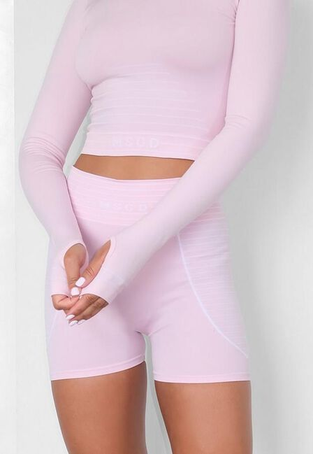 Missguided - Pink Pink Seamless Msgd Long Sleeve Gym Top