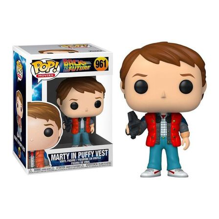 FUNKO TOYS - Funko Pop Movies Back To The Future Marty In Puffy Vest Vinyl Figure