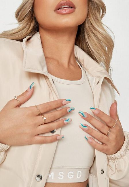 Missguided - Gold Gold Look Thin Band Rings 8 Pack
