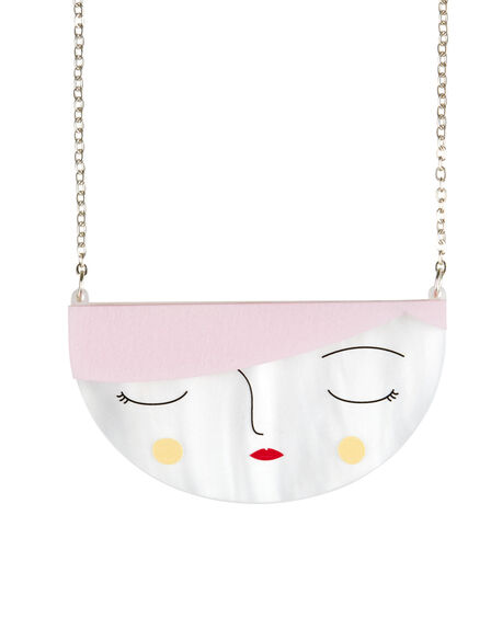 LITTLE MOOSE - Little Moose Faces Small Face Necklace
