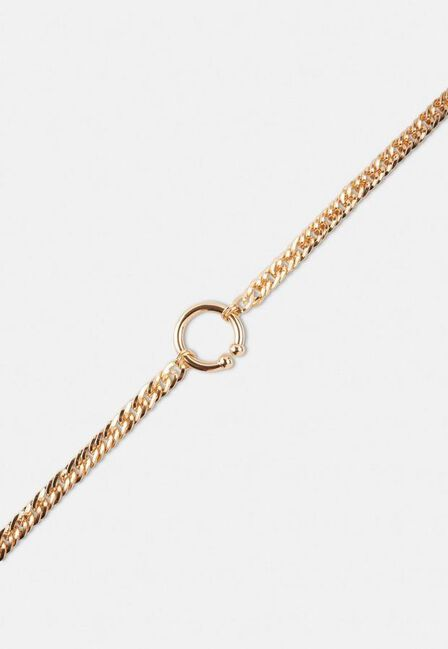 Missguided - Gold Gold Look Open Ring Chain Necklace