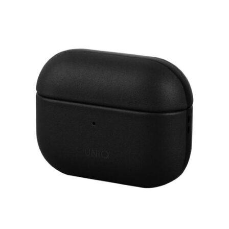 UNIQ - Uniq Terra Genuine Leather Snap Case Dallas Black For Airpods Pro