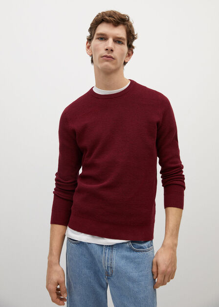 Mango - red Structured cotton sweater