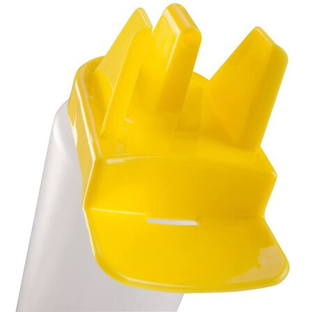 KIPSTA - Hygienic 1 litre water bottle - white/yellow