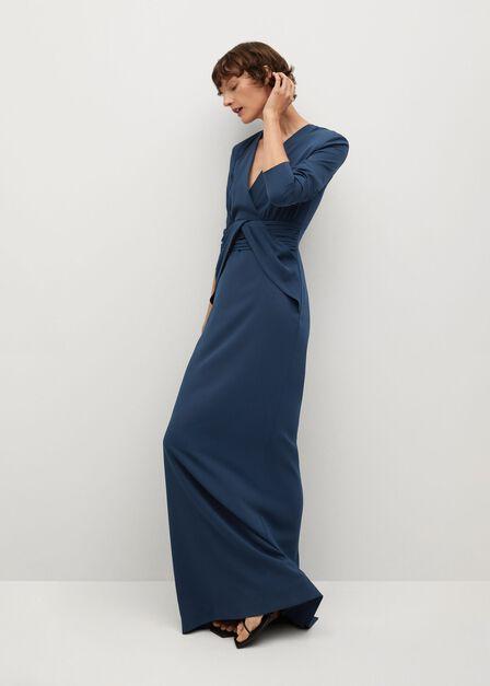 Mango - navy Pleated detail dress