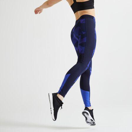 DOMYOS - W28 L31  120 Women's Fitness Cardio Training Leggings, Navy Blue