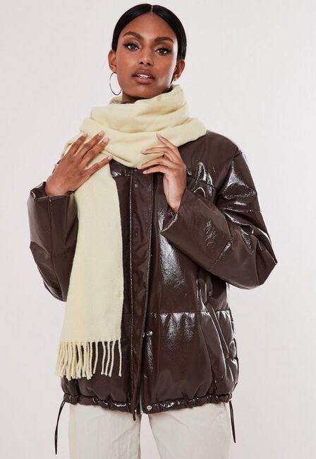 Missguided - White Cream Blanket Scarf
