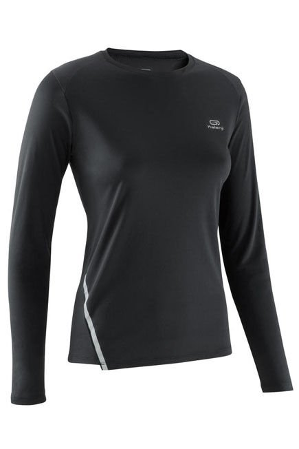 KALENJI - Run sun protect Women's jogging long-sleeved t-shirt - black, S