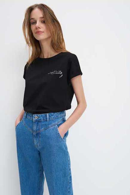 Mohito - Eco Aware Cotton T-Shirt - Black