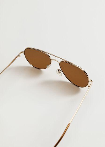 Mango - gold Aviator frame sunglasses, Women