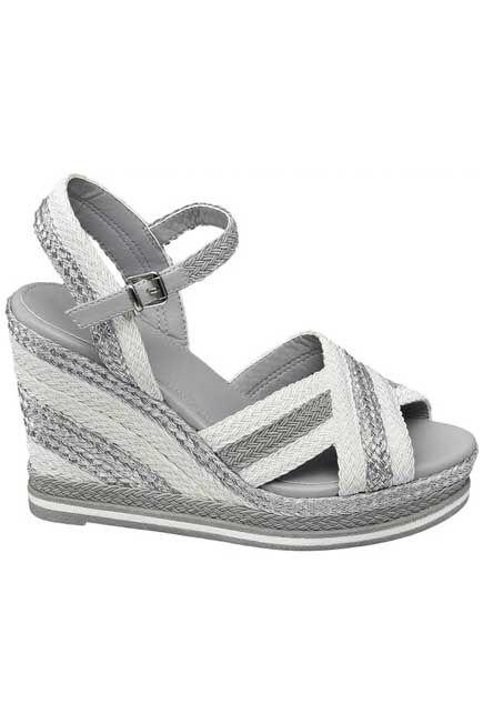 Graceland - Grey Sandals With Wedge Heel, Women