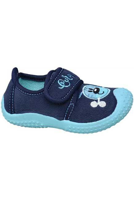 Bobbi-Shoes - Navy Blue Sneakers, Kids Boy