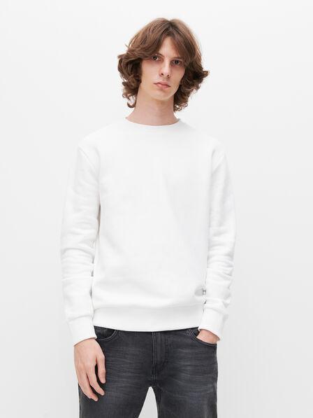 Reserved - Men's Minimalist Style Sweatshirt - White