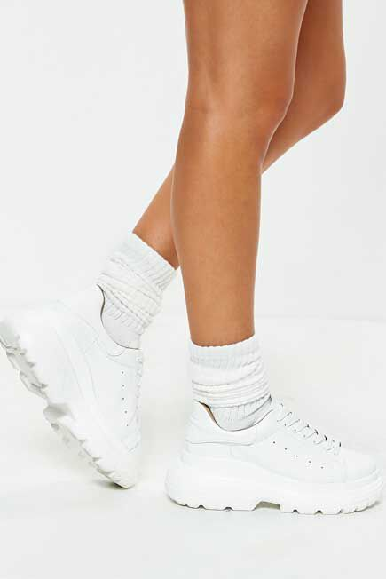 Missguided - White Sports Socks