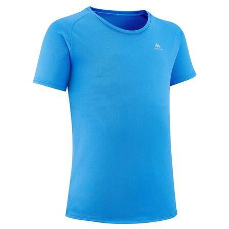QUECHUA - 8-9Y Kids' Hiking T-Shirt - MH500 Aged 7-15 - Pacific Blue