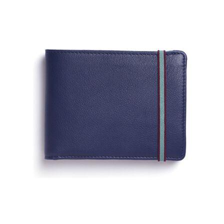 CARRE ROYAL - Carre Royal Portefeuille Porte-Carte Avec Monnaie Leather Wallet Blue