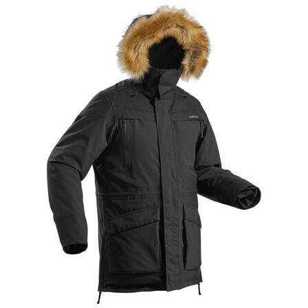 QUECHUA - M Men's Warm Waterproof Snow Hiking Parka - Sh500 U-Warm. - Black