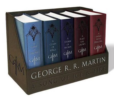BANTAM PRESS UK - A Game of Thrones Leather-Cloth Boxed Set A Game of Thrones a Clash of Kings a Storm of Swords a Feast for Crows and a Dance with Dragons