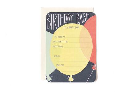 1CANOE2 - 1Canoe2 Flat Birthday Bash Balloons Navy/Green/Yellow Cards
