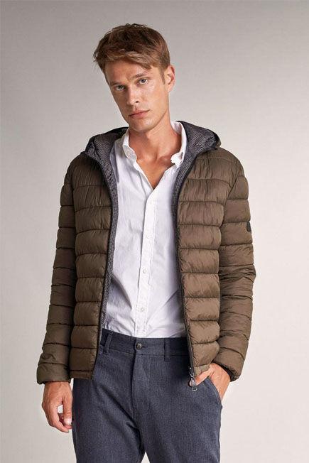 Salsa Jeans - Green Waterproof reversible short puffer jacket
