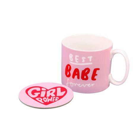 THE HAPPY NEWS - The Happy News Best Babe Forever Mug & Coaster Set